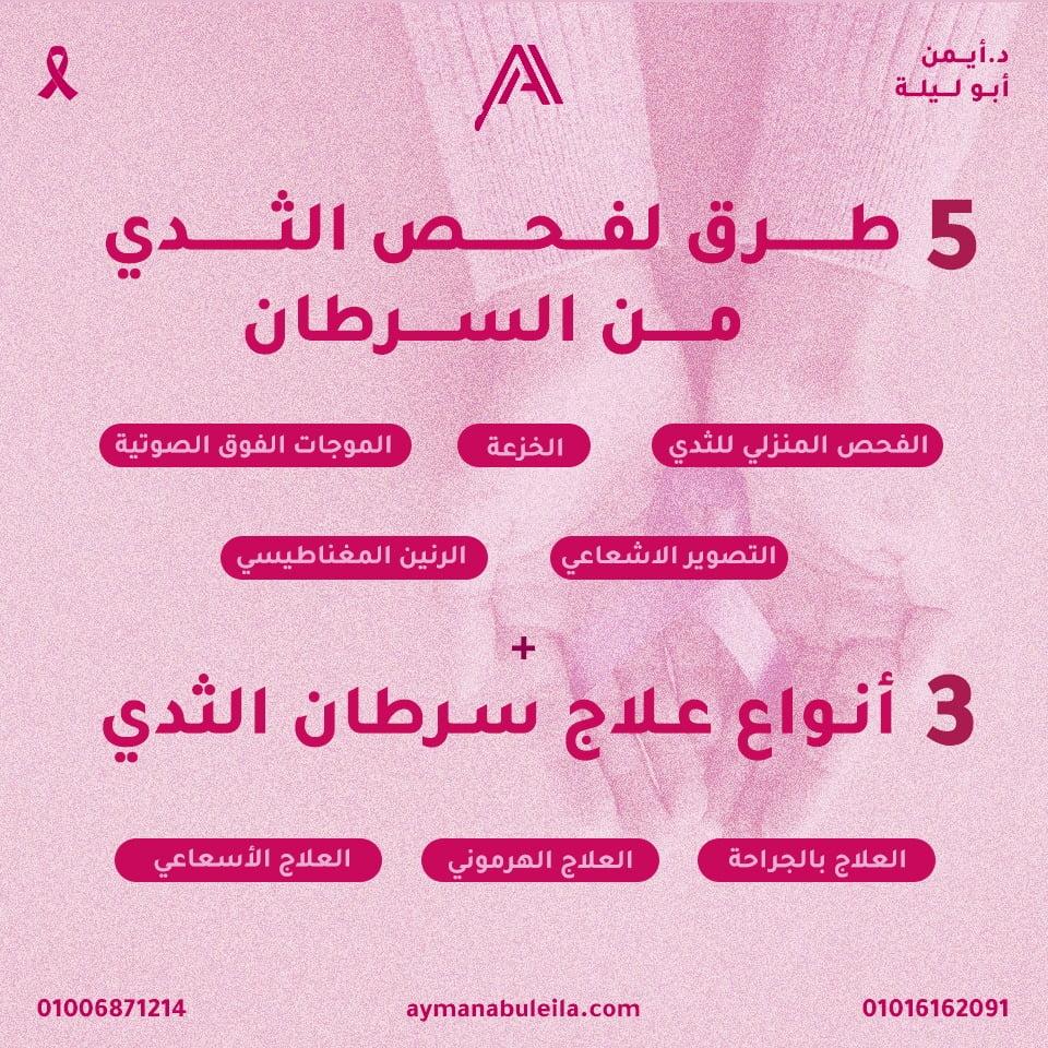 دليلك الشامل لانواع علاج سرطان الثدي|وطريقة فحص الثدي من السرطان: